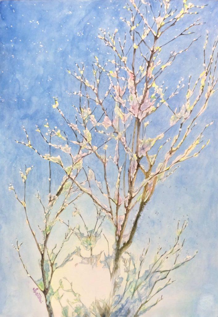 西紋智美さんの「樹氷玲瓏 〜弘前市街〜」